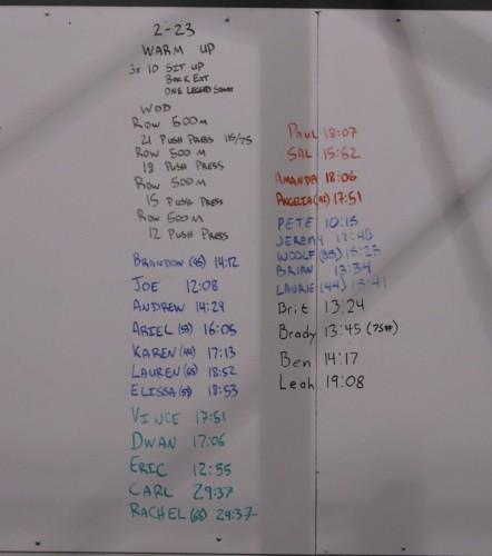 Scoreboard 2-23