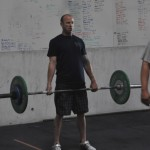 CrossFitter, Kory Stearns, stays mentally tough through a deadlift wod.