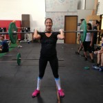 Michelle is always smiling-even during her lifts!