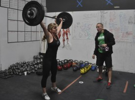 Tamis Casler takes on last year's 12.2 WOD-a snatch ladder increasing weight every 30 reps capped at 10 minutes