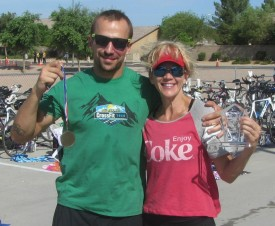 Susie loves to do triathlons  and even talked Peter into his first sprint Tri back In September.