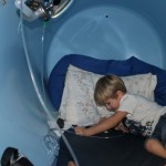 Jackson during his weekly visits to the hyperbaric chamber