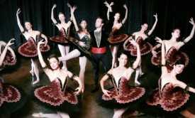 "Melissa (bottom center on right) is performing in ""Paquita and Other Works"" this weekend at Temp Center for the Arts."
