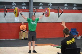 Josh gets the down signal from his judge after making his 103Kg Snatch.