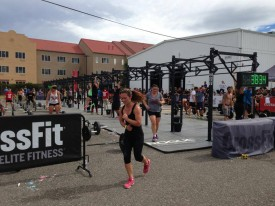 Lyndsi Waldeck took on her first heros wod and competition outside the gym!