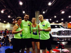 Michelle competed in the Team Divison at the Sicest of the Southwest with coach Brandi Kalafat, Mark Schurkens and fiance Cameron Moore.