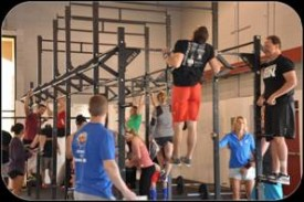 14.2 consisted of an increasing ladder of overhead Squats and chest to bar pull ups.