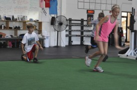 Susie's kids, Cassie and Ashton, motivated mom to try CrossFit.