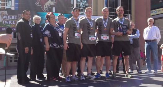 The Bomb Squad places first overall in the 2013 IMS Marathon Relay