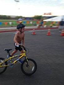 Trainer Aimee Berencsi's son, Zolie, participated in Fury's Kids Triathlon training in March and loved it so much, he has done 2 more since.