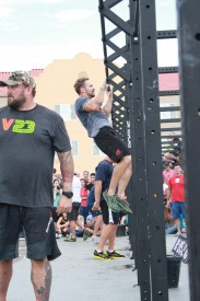 Peter got to take on the the Hotshot wod along side fellow Games competitors Rich Fronging, Chris Spealler, Dan Bailey, Rebecca Voight and Lindsay Valenzuela.