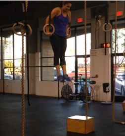 Tesa Ewoldt gets her first muscle up on Friday after months of hard work, perseverance and determination.