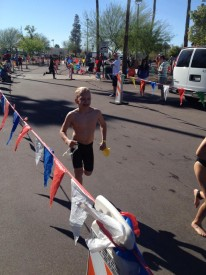 Zolie Berencsi competed for the second year in the AZ KIds Triathlon.