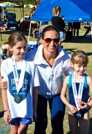 Sisters Ella and Abby Gray, both CrossFit Kids members took on their first triathlon this past Sunday.