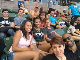 Last summer, Theresa (not pictured) Shantelle and Cerita traveled to Carson, California with some other 6:30 peeps to watch the 2013 CrossFit Games.