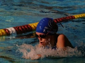 12 year old Taylor Mellon started swimming at age 5 and began competitive swim team just a year later at age 6.