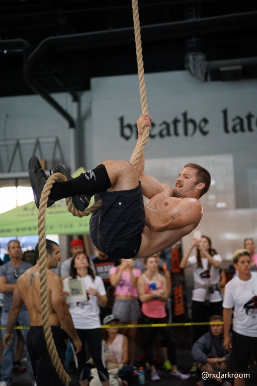 Tommy Vinas of Fury's Team Tommahammer up the rope for three minutes.