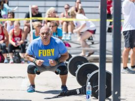 Photo of Diego Espinoza at the 4th Annual Hot Shots Memorial WOD Photo courtesy of RxDarkroom