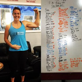 Beth sets the new gym 1k Row record at 3:39 in addition to tons of personal PR's