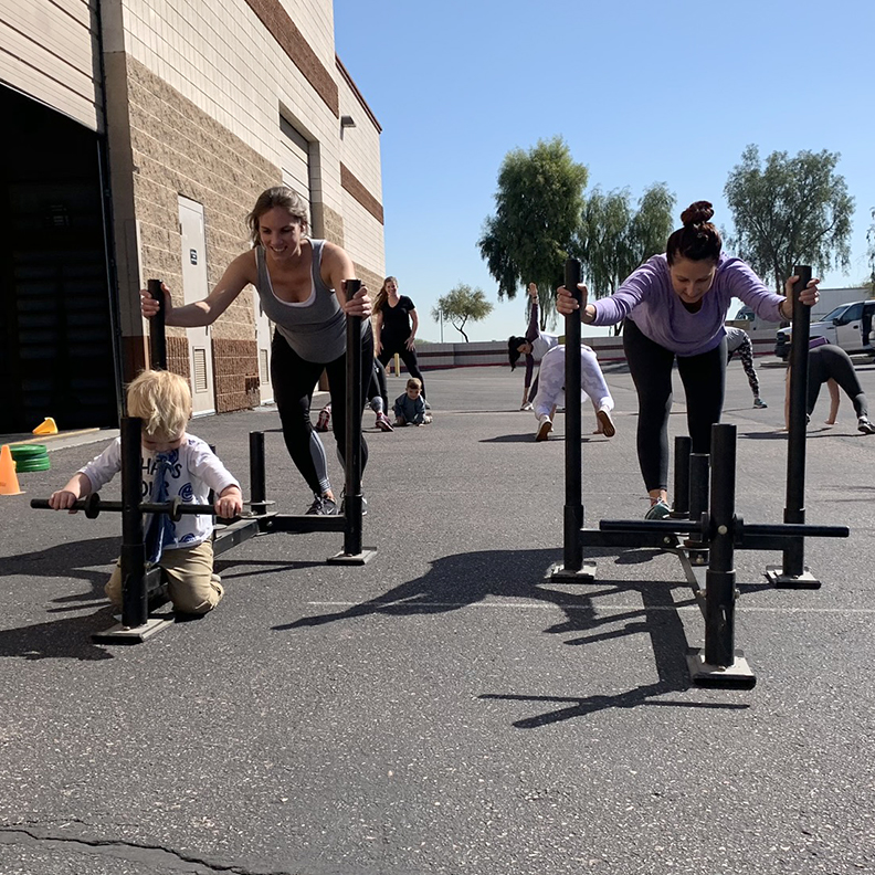 Birthfit sled pushes